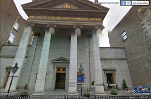 Street view of St. Francis Xavier from Google Earth