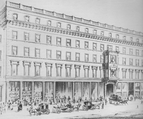 1856 – Pim's Department Store, Sth Great George's Street, Dublin. From Archiseek, http://archiseek.com/2011/1856-pims-department-store-sth-great-george/#.UvORzUJdUQ5