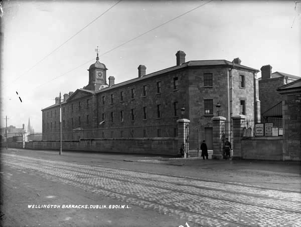 Wellington Barracks, photographed by Robert French between 1887 and 1914. Courtesy of the National Library of Ireland's Lawrence Photograph Collection.