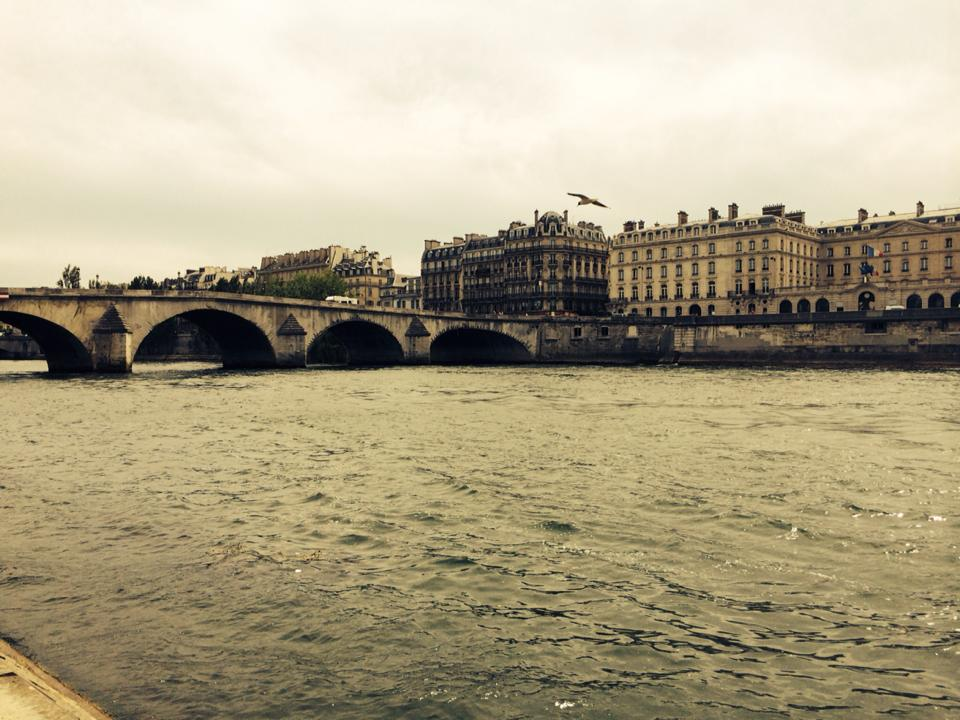 The Seine River in Paris. The river was a fascination for Joyce, and he hybridized the Seine and the Liffey, among many others, in Finnegans Wake. Photo by Jasmine Mulliken 2014.
