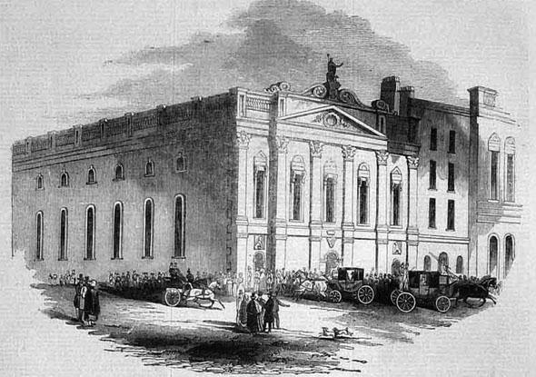 Conciliation Hall on Burgh Quay. Illustration form Archiseek.