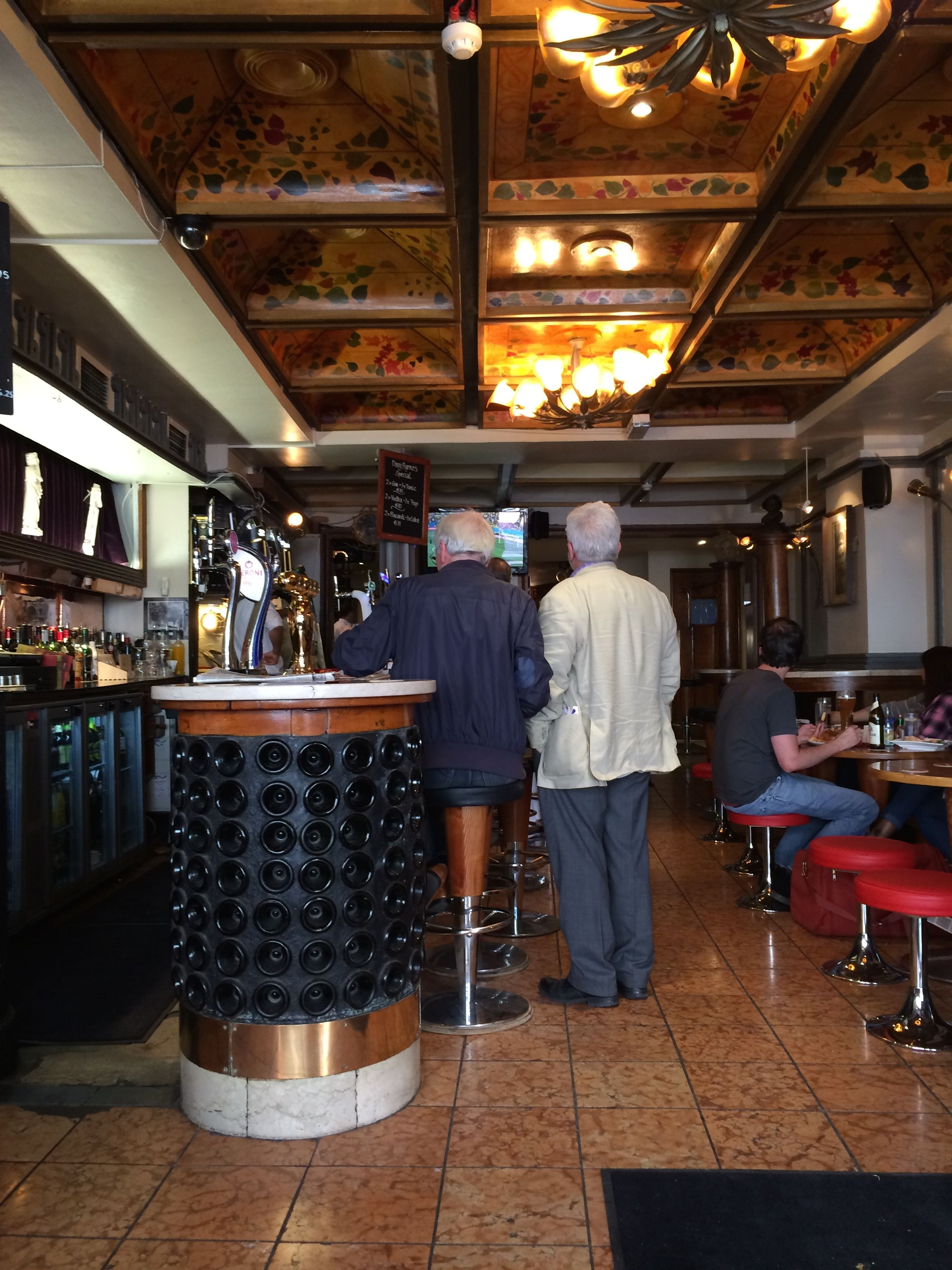 Interior of Davy Byrne's as photographed by the author, 30 June 2014.