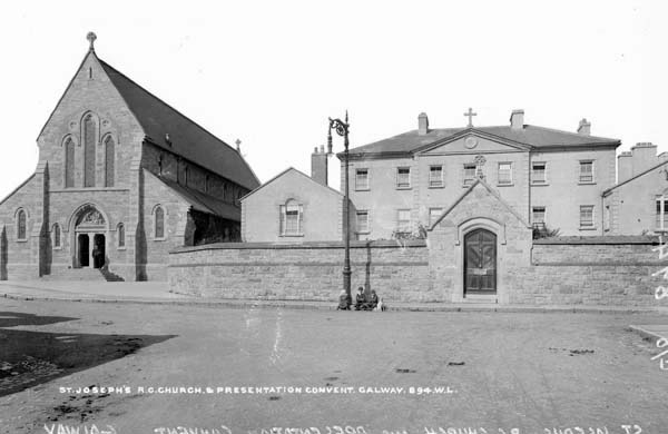 St. Joseph's Chapel & Presentation Convent, Galway City, Co. Galway, where a young Nora Barnacle was sent after her parents separated. Photographed between 1865 and 1914 by Robert French. From the Lawrence Photograph Collection at the National Library of Ireland.