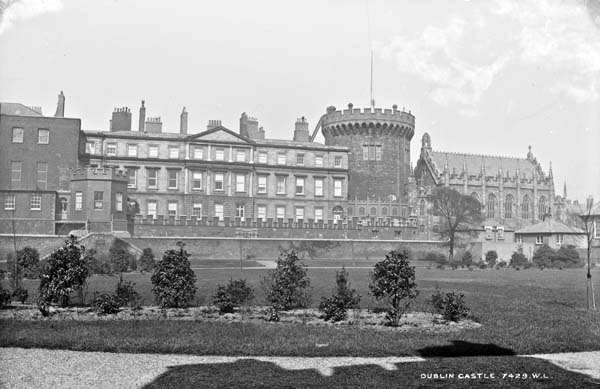 Dublin Castle, Dublin City, Co. Dublin, photographed by Robert French between 1865 and 1914. From the Lawrence Photograph Collection at the National Library of Ireland.