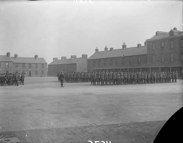 Inside of the Beggars Bush Barracks, photographed by Robert French between 1865 and 1914. From the National Library of Ireland's digitized Lawrence Photograph Collection.