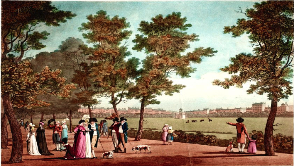 Malton, James. St Stephen's Green. 1796. Image Courtesy of the National Library of Ireland.