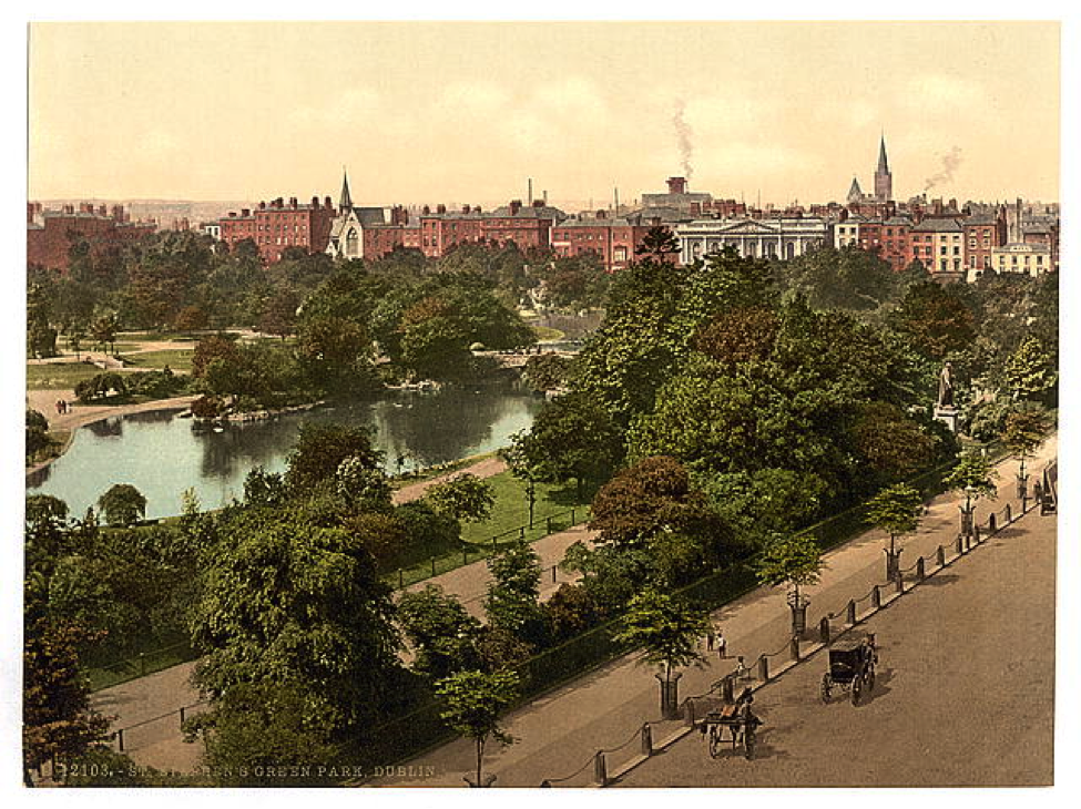 Detroit Publishing Co. St Stephen's Green Park, Dublin, County Dublin, Ireland (LC-DIG-ppmsc-009877), c. 1890-1900. Library of Congress, Washington, D.C.